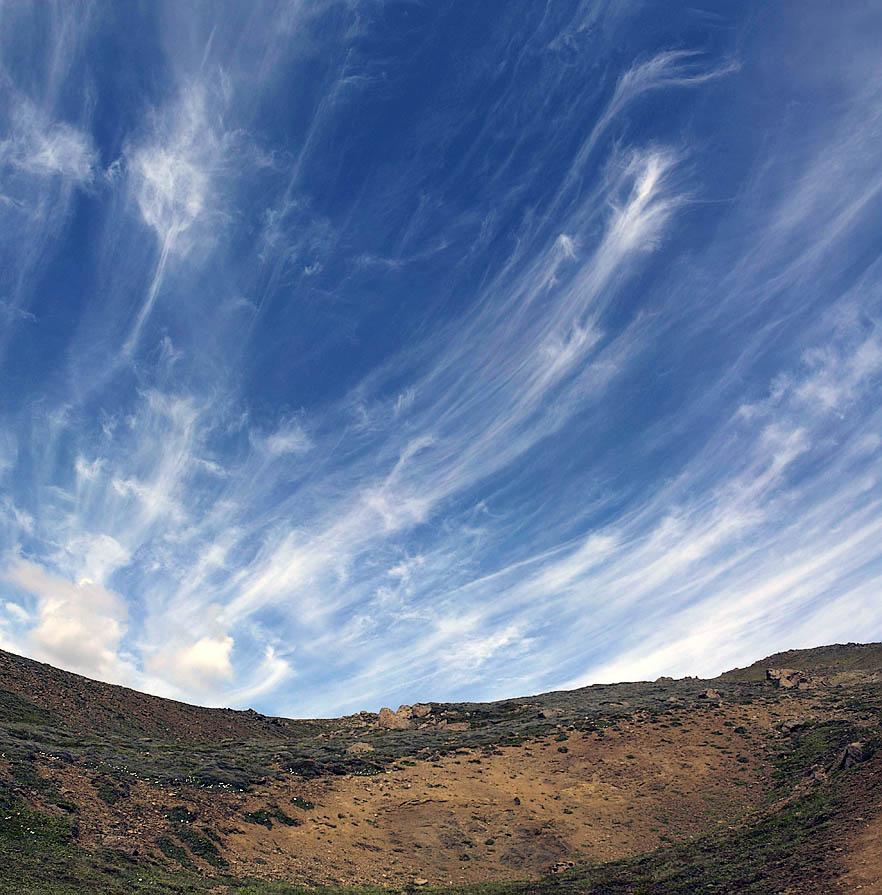 Wolken über dem Hengill