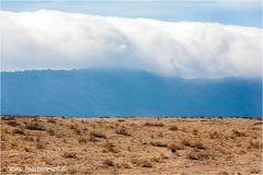 Wolken über dem Ngorongoro Krater