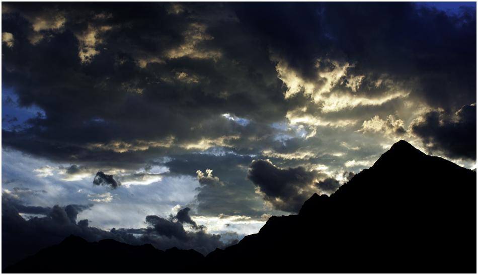 Wolken über dem Passeier - Tal