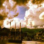 Wolken über den Dächern