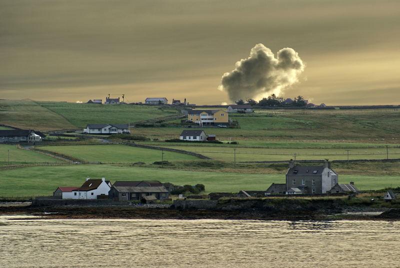 Wolken über den Shetland Inseln