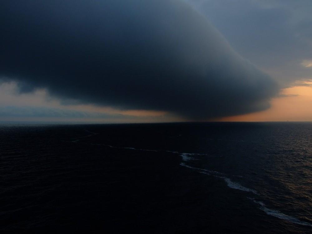 Wolken über der Ostsee 2. Versuch