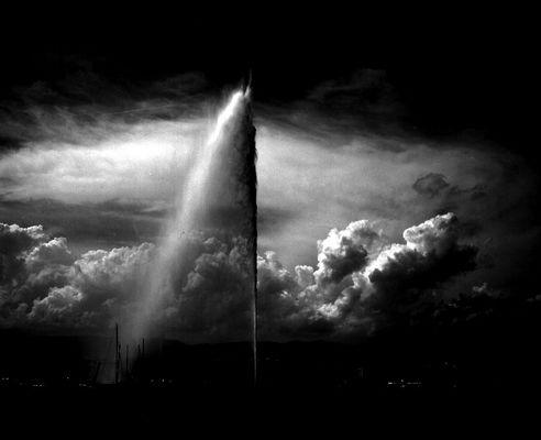 Wolken über Genf