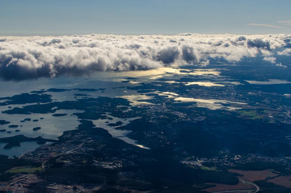 Wolken über Helsinki
