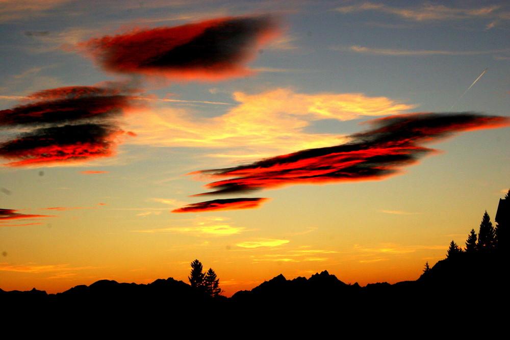 Wolken über Mösern, Austria