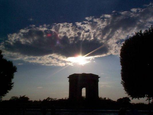 Wolken über Montpellier
