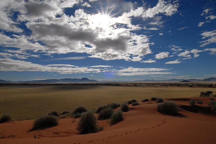 Wolken über Namibia