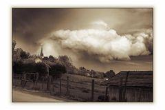 Wolken über Nöham sepia