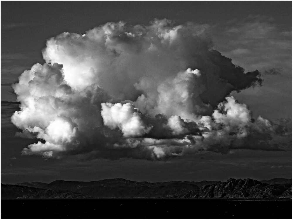 Wolken über Norwegen ...