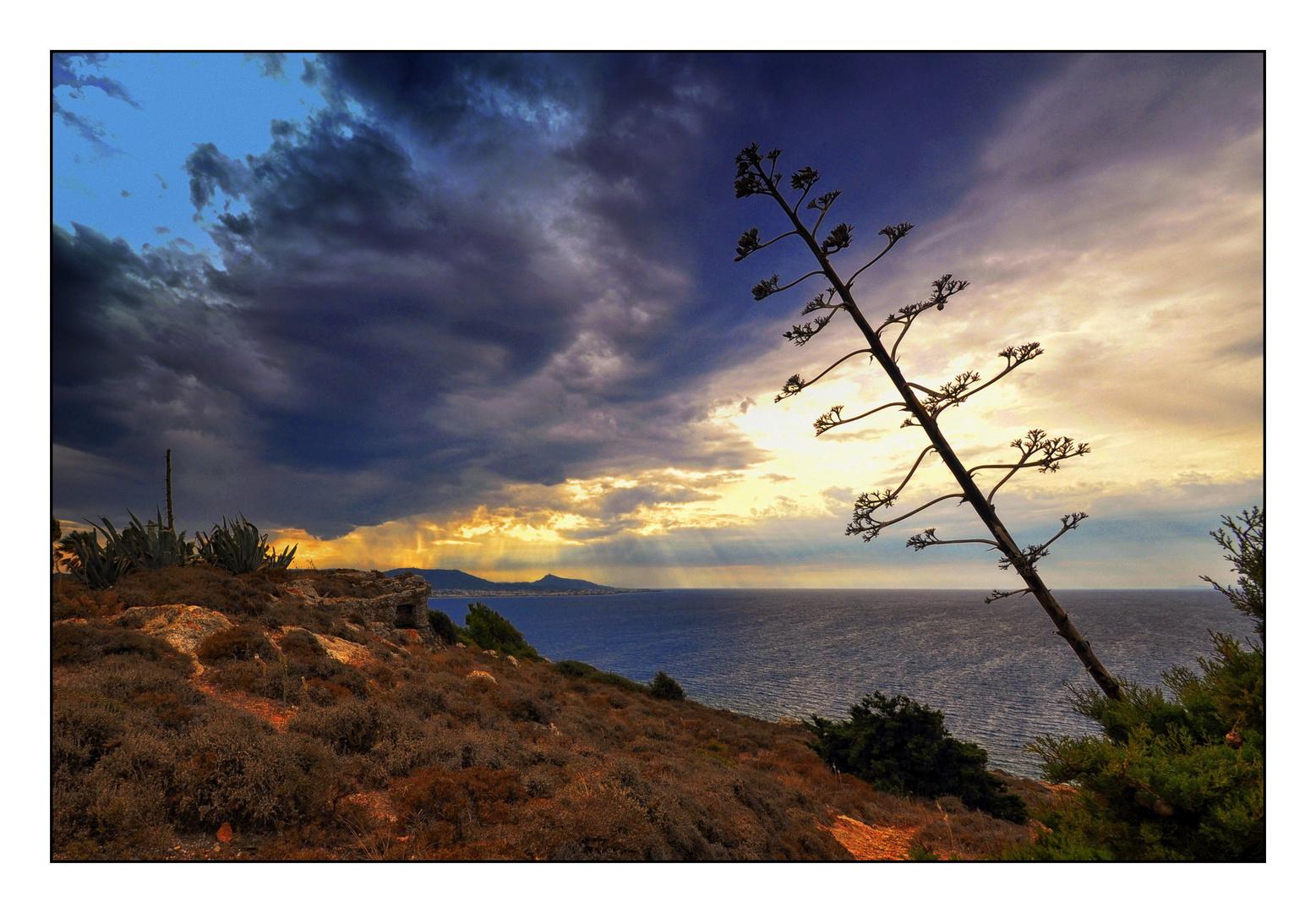 Wolken über Rhodos