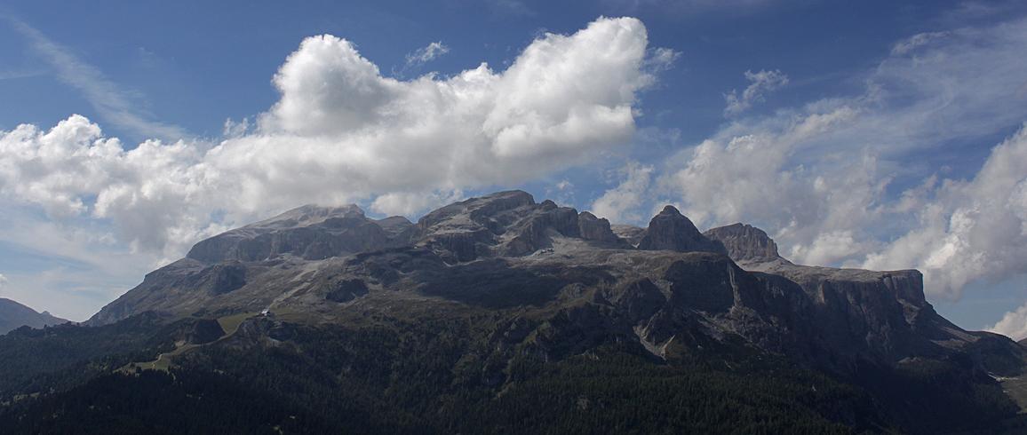 Wolken über Sella