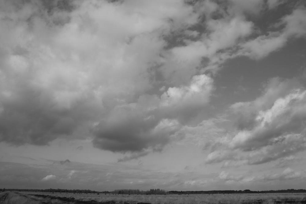 Wolken überm Moor