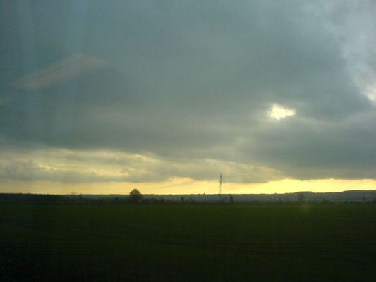 wolken und land