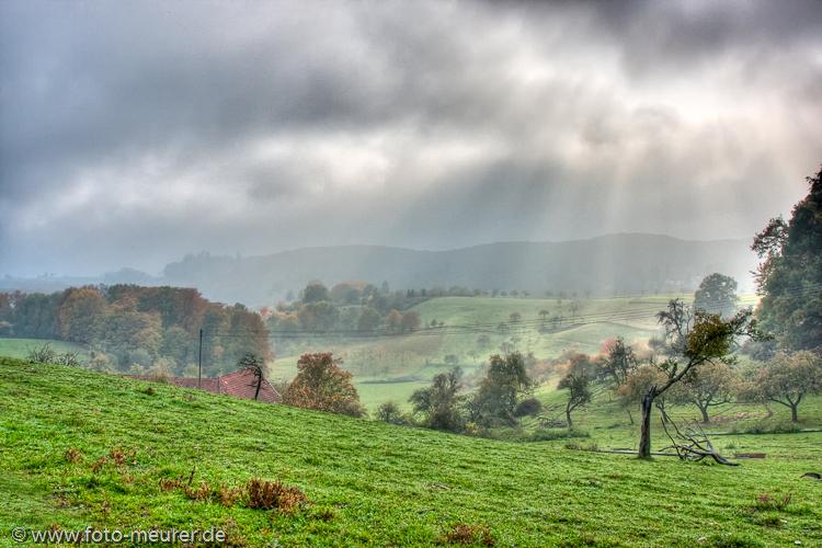 Wolken und Nebel