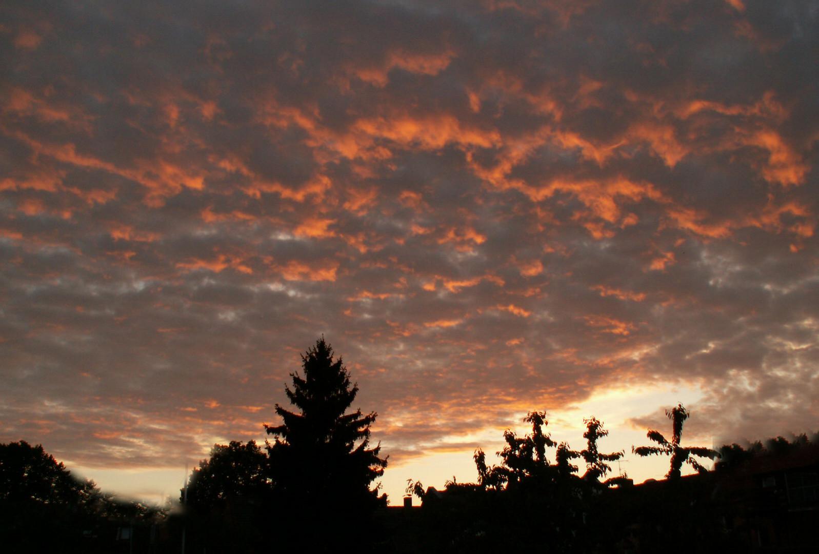 Wolken und Sonnenuntergänge – Lieblingsmotive meiner Enkelin Nadine
