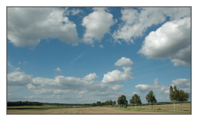 Wolken ziehen dahin, daher