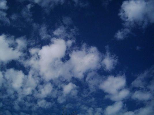 Wolken ziehen vorbei...