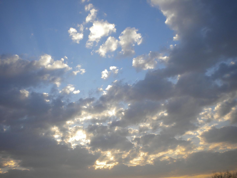 Wolkenbild im März 2011