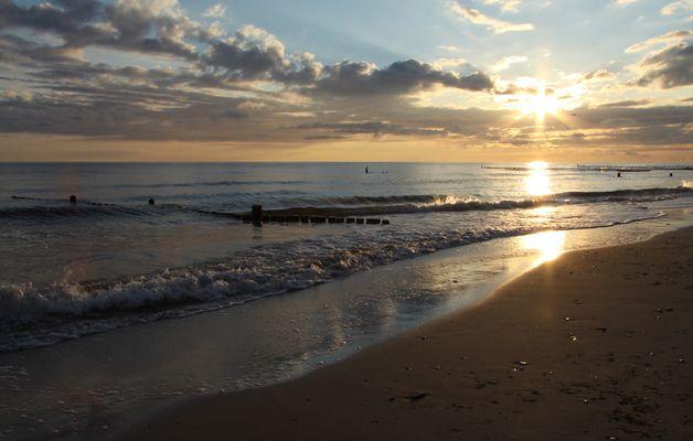 Wolkenbildung am Strand von Zempin