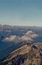 Wolkenbilung an der Zugspitze