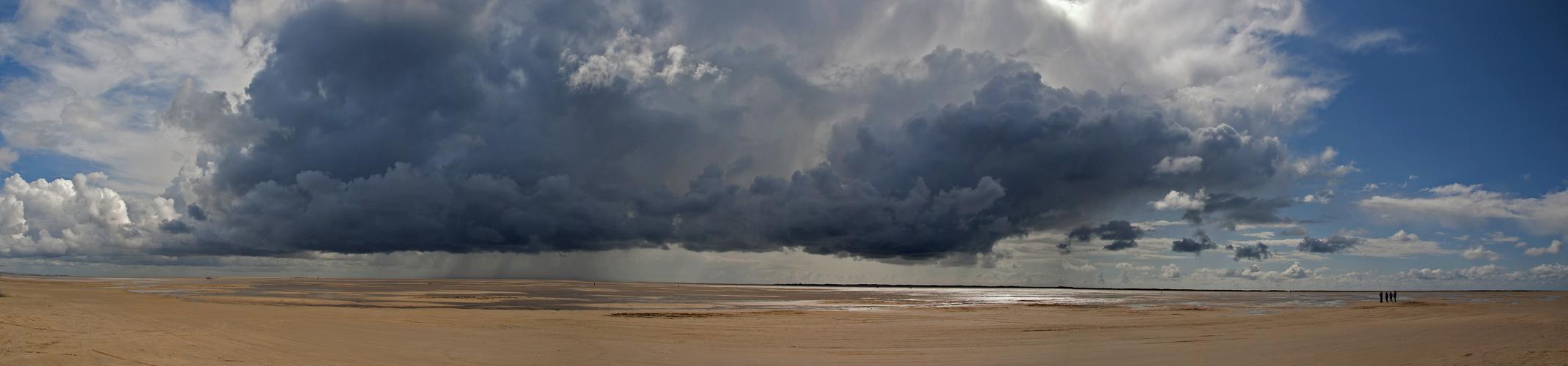 Wolkenbruch über Sylt 07/2012