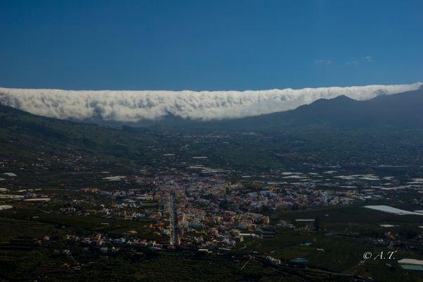 Wolkenfall auf La Palma