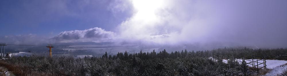 Wolkenfront am Fichtelgerg
