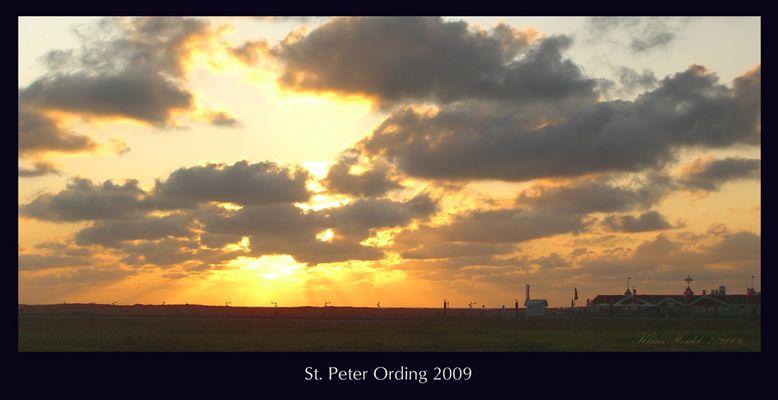Wolkenglühen am Abend