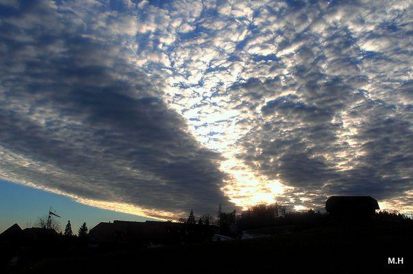 Wolkenhimmel wie Zuckerwatte...