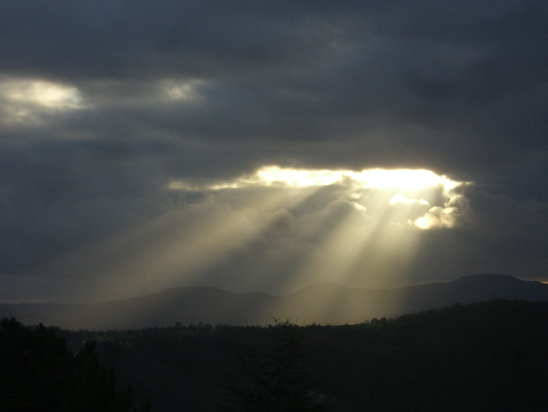 Wolkenlichtwunder bei Tübingen
