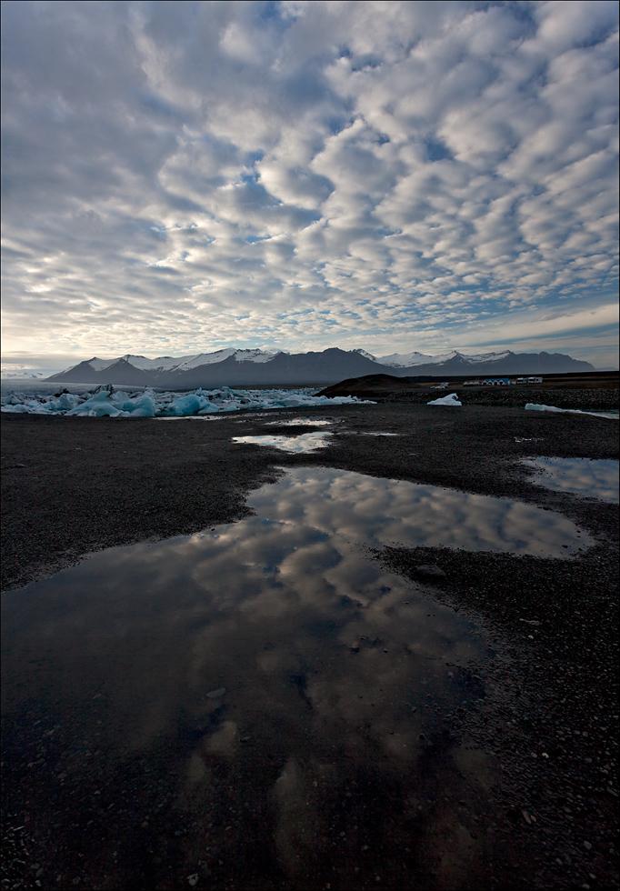 Wolkenmeer am Jökulsárlón - IS 2013 #127