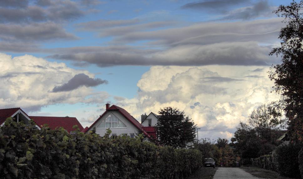 Wolkenschichten - noch kein Schnee