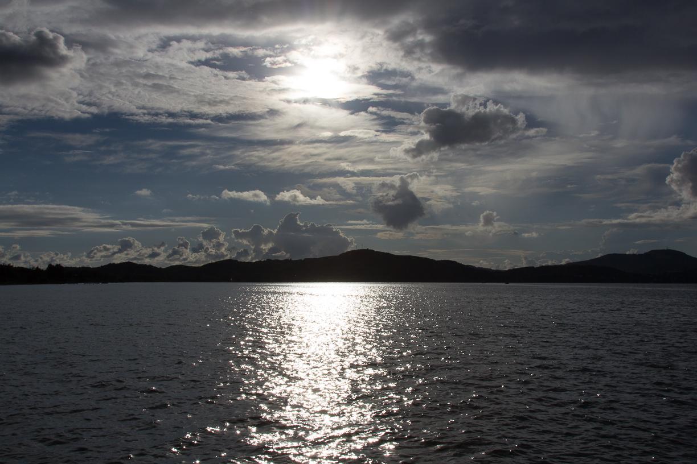 Wolkenspiel beim Sonnenuntergang