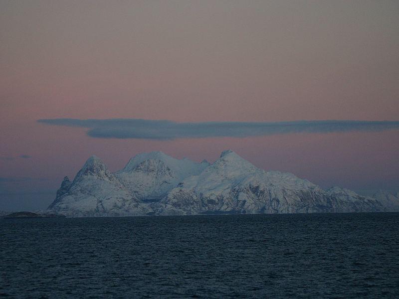 Wolkenspiele über Norwegen Dezember 2005