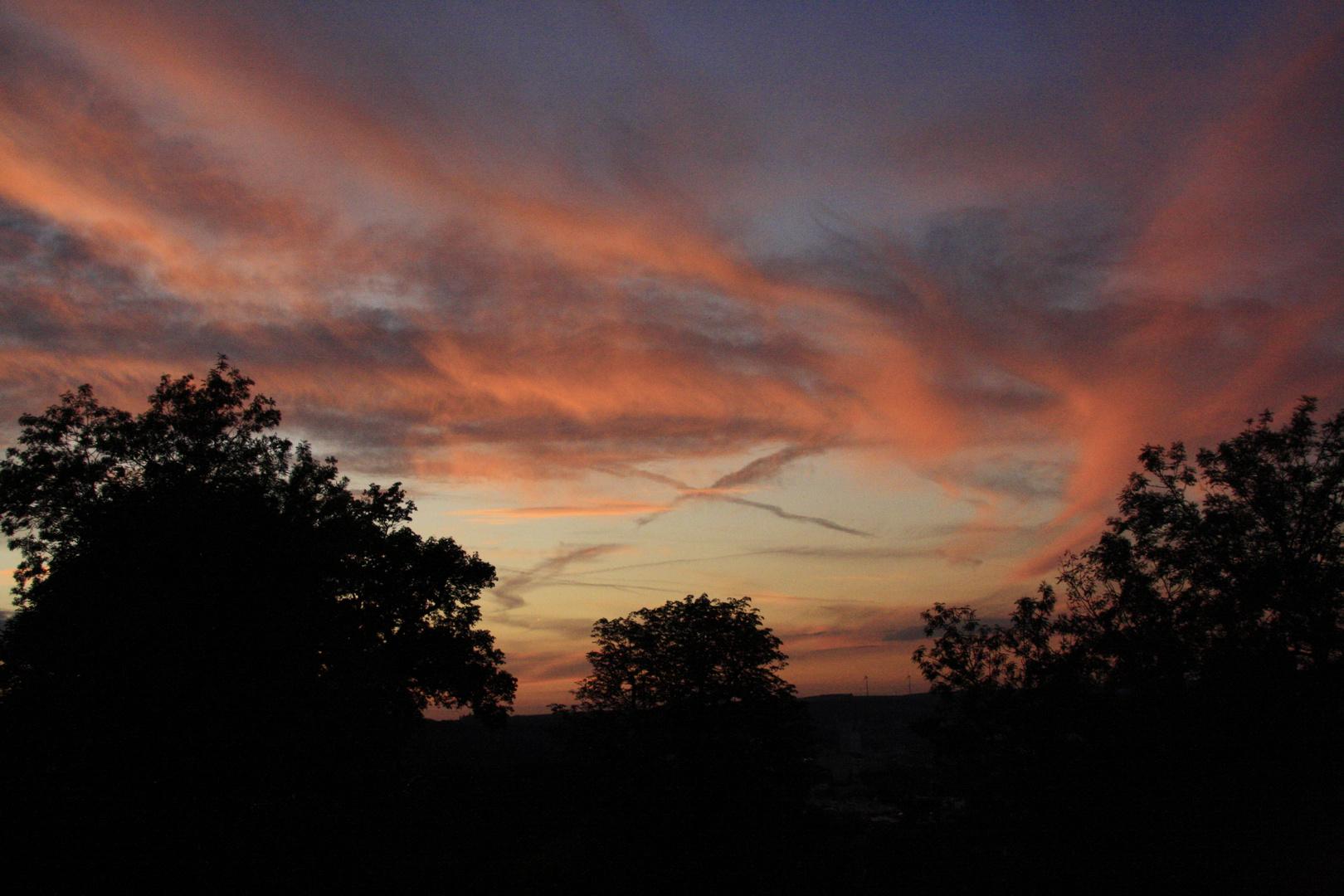 Wolkenspiele vor der Abendsonne