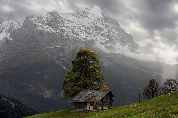 Wolkenstimmung am Eiger, Grindelwald