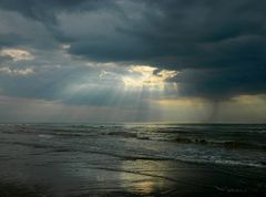 Wolkenstimmung an der Küste