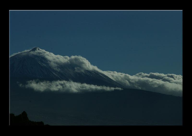 Wolkenwand am Teide