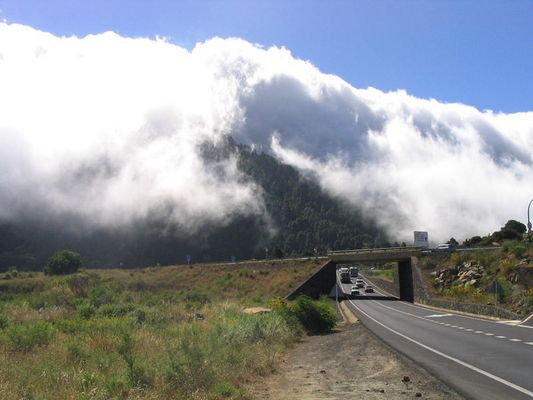 Wolkenwasserfall