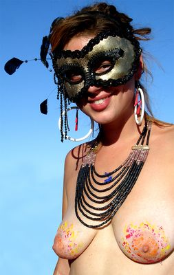 Woman at Burning Man 2006