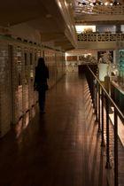 Woman in a corridor
