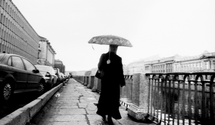 Woman on the street of St.-Pete