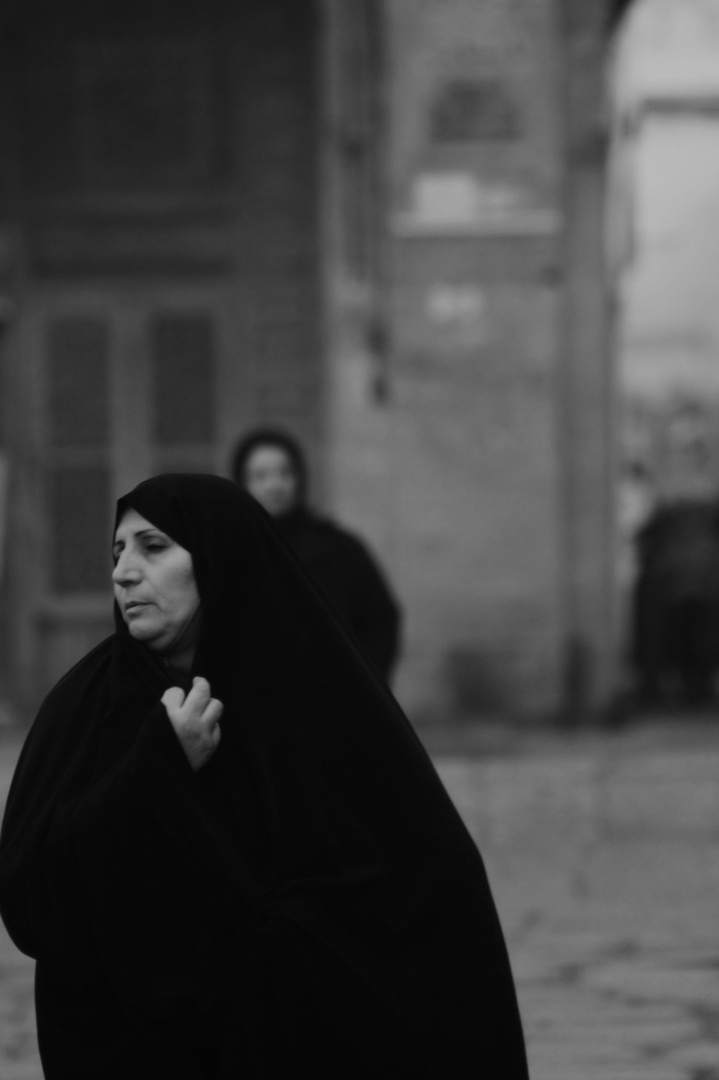 woman with chador
