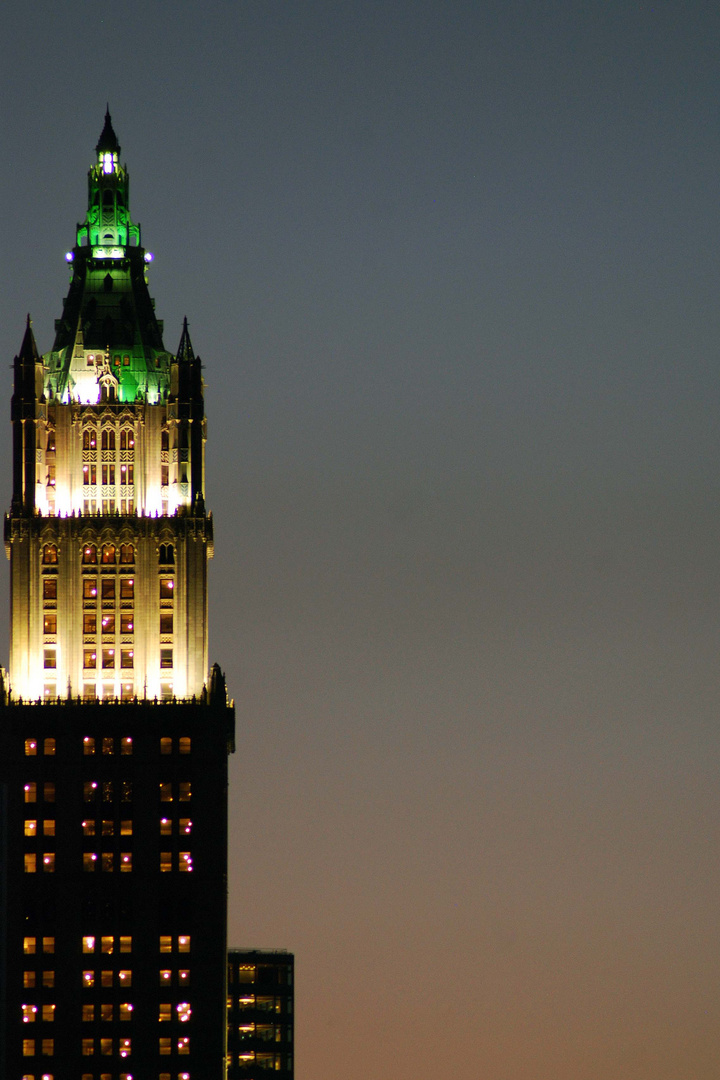 Woolworth Building in New York City bei Nacht