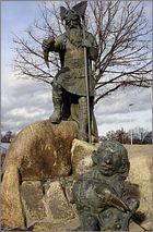 Wotan- der höchste Gott der Germanen mit Windzwerg Sudri und Rabe Hugin.......