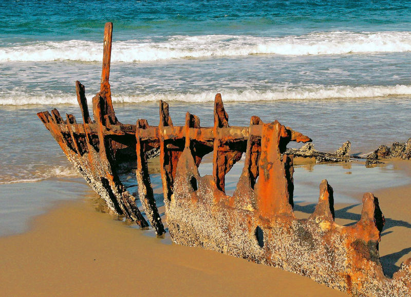 Wreck on Dicky Beach