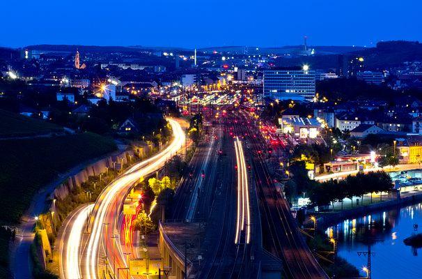 Würzburg zur blauen Stunde