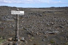 Wüste Gegend - hier driften die eurasische und die amerikanische Kontinentalplatte auseinander