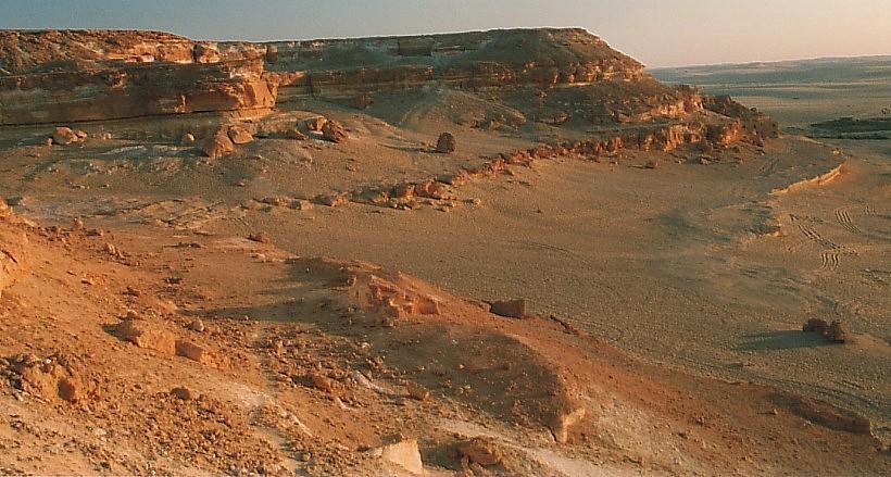 Wüste im Abendlicht