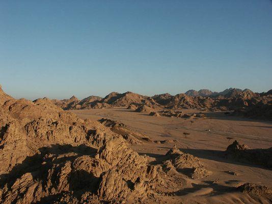 Wüste in der Sinai-Halbinsel
